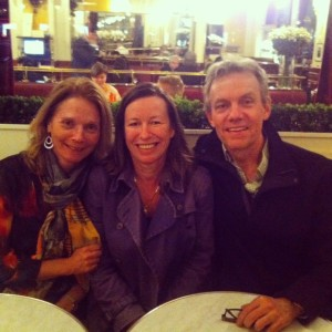 Me with Valerie and Husband at Les Deux Magots